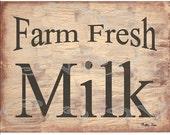 Printable Art Print , Farm Fresh Milk , Instant Download , Farmhouse Decor , Primitive , Print & Frame , Grungy , Cottage Chic , Large , DIY