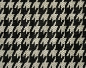 upholstery - 1 yard of houndstooth, black and beige fabric