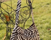 Large Brown Zebra Striped Buttercup Bag