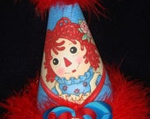 Raggedy Ann Birthday Party Hat Supplies Favors for 1st Birthday 2nd 3rd 4th