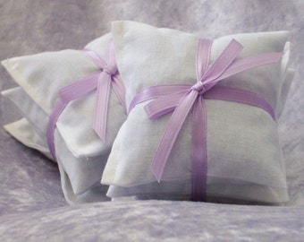 """Lavender Dryer Sachets  - 2 Sets of 3 - 3 3/4"""" x 3 3/4"""" -Eco Friendly Laundry and Cleaning - Lavendar Sachets Dryer Bags"""