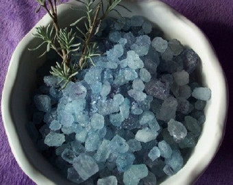 Lavender Bath Salts with Pure Essential Oil - 3 Tubes of Blue Bath Crystals