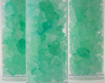 Bath Salts - Patchouli Musk and Sandalwood  - 3 Tubes of Avalon Green Bath Crystals