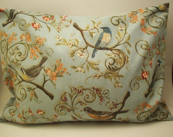 Lavender Buckwheat  Pillow -  Song Birds - Home and Living Decor