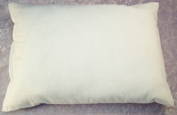 Lavender Buckwheat Pillow  with Muslin Cover - Neck Support Travel Pillow - White Throw Pillow