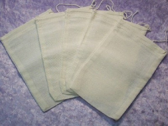 4 x 6 Unbleached Muslin Bags - Reusable Fabric Gift Bags - Jewelry Packaging