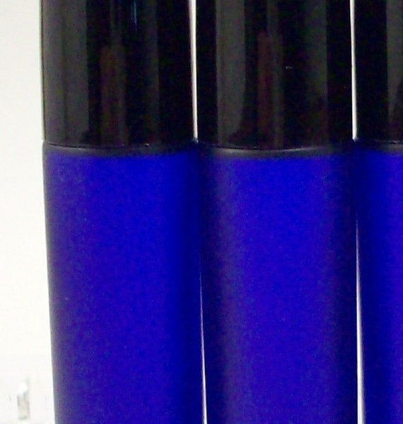 Mental Clarity  Roll on Essential Oil Fragrance with Lavender Patchouli Rosemary - Portable Aromatherapy - Bath and Beauty
