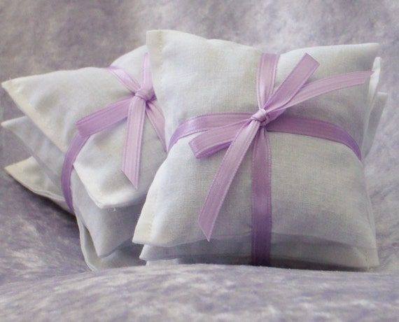 "Lavender Dryer Sachets  - 2 Sets of 3 - 3 3/4"" x 3 3/4"" -Eco Friendly Laundry and Cleaning - Lavendar Sachets Dryer Bags"