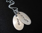 HAND STAMPED and personalized necklace--Custom name necklace--Personalized jewelry--The Kara Necklace