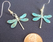DRAGONFLY EARRINGS with or without green patina