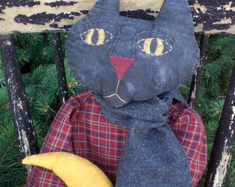 Goodnight Moon Kitty Kat Primitive Cat Doll With Red Dress