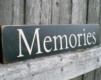 Primitive Wood Sign- Memories