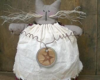 Taluleh The Primitive Folk Art Kitty Cat Shelf Sitter Doll