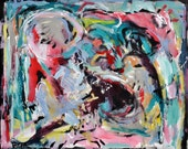 Abstract Expressionist Painting Original modern art  on canvas by Russ Potak