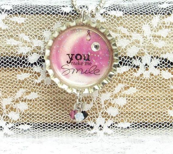 Smile Necklace Best Friend Jewelry Friendship Necklace Moon Necklace Best Friend Gift Friendship Gift