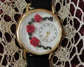 Quilled Red Rose Watch