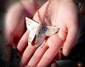 Vintage paper 1914 butterfly pendant