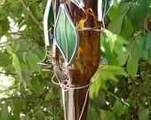 Leafy Hummingbird Feeder from Recycled Upcycled Beer Bottle