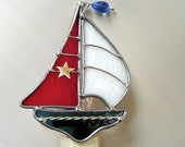 Sail the Seas  Stained Glass Night Light