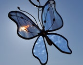 Periwinkle Blue Stained Glass Butterfly