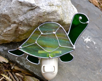 Tommy the Turtle  Stained Glass Nightlight