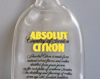 Absolut Citron Vodka from Sweden  Slumped  Bottle