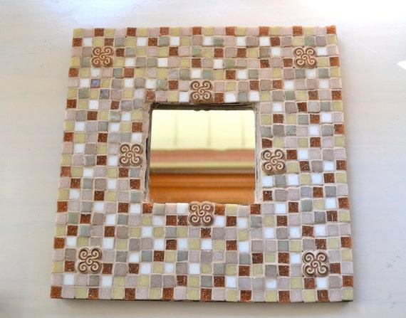 Earthtone Mosaic Mirror