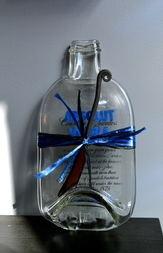 Absolut Vodka from Sweden  Slumped  Bottle