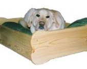 Wooden Bone Shaped Pet Bed - Size Large - STAINED The Color Of Your Choice