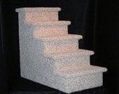 Pet Stairs - 5 Step - Dog Stairs - Dog Steps - Dog Stairs For Bed - Cat Stairs - Sturdy Pet Stairs - Carpeted Pet Stairs