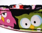 Dog Collars With Curb Appeal - The Night Owl - Adjustable Dog Collar Available In Four Sizes - Fashionable Dog Collars
