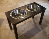 Raised Dog Feeder 5 Qt 16 Inch Double - Classic Design - Elevated Pet Feeder - Raised Dog Bowl - Elevated Dog Bowl - Dog Bowl Stand