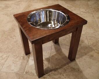 2 Quart 12 Inch Single - Ergonomically Designed Raised Pet Feeder - Elevated Dog Bowls