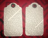 Set of 4 Recycled Scrapbook Tags