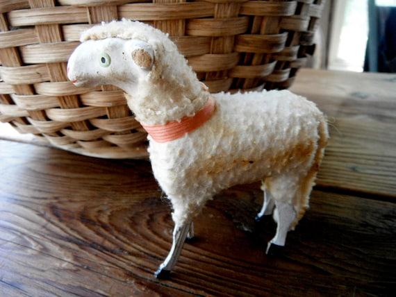 antique German putz sheep