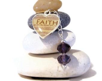 Faith Rock Cairn, Confidence, Trust, Grace, Inspirational, Belief, Loyalty, Religious, Spiritual, Zen Garden, Balancing Rocks, Desk Gift