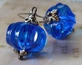 RETROVERT - vintage lucite blue earrings