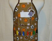 Sports Childrens Art Apron