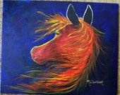 Horse Called Spirit Of Fire Original  Arcylic  Painting