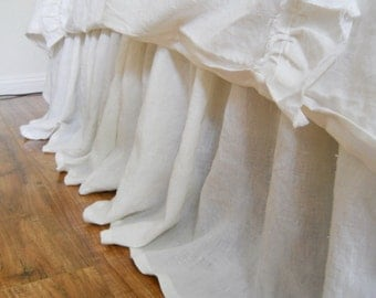 SIMPLE..bed skirt 100% linen, dust ruffle