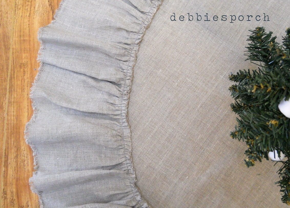 Christmas Tree Skirt... Lilly...60 With 100% Linen