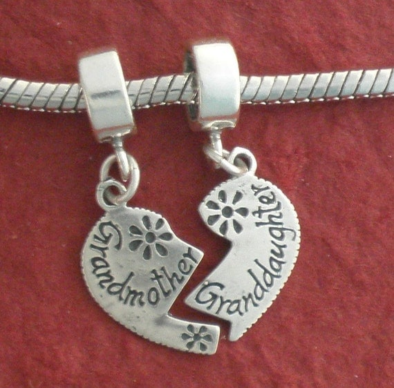 Sterling silver grandmother granddaughter charm solid 925 for Grandmother jewelry you can add to