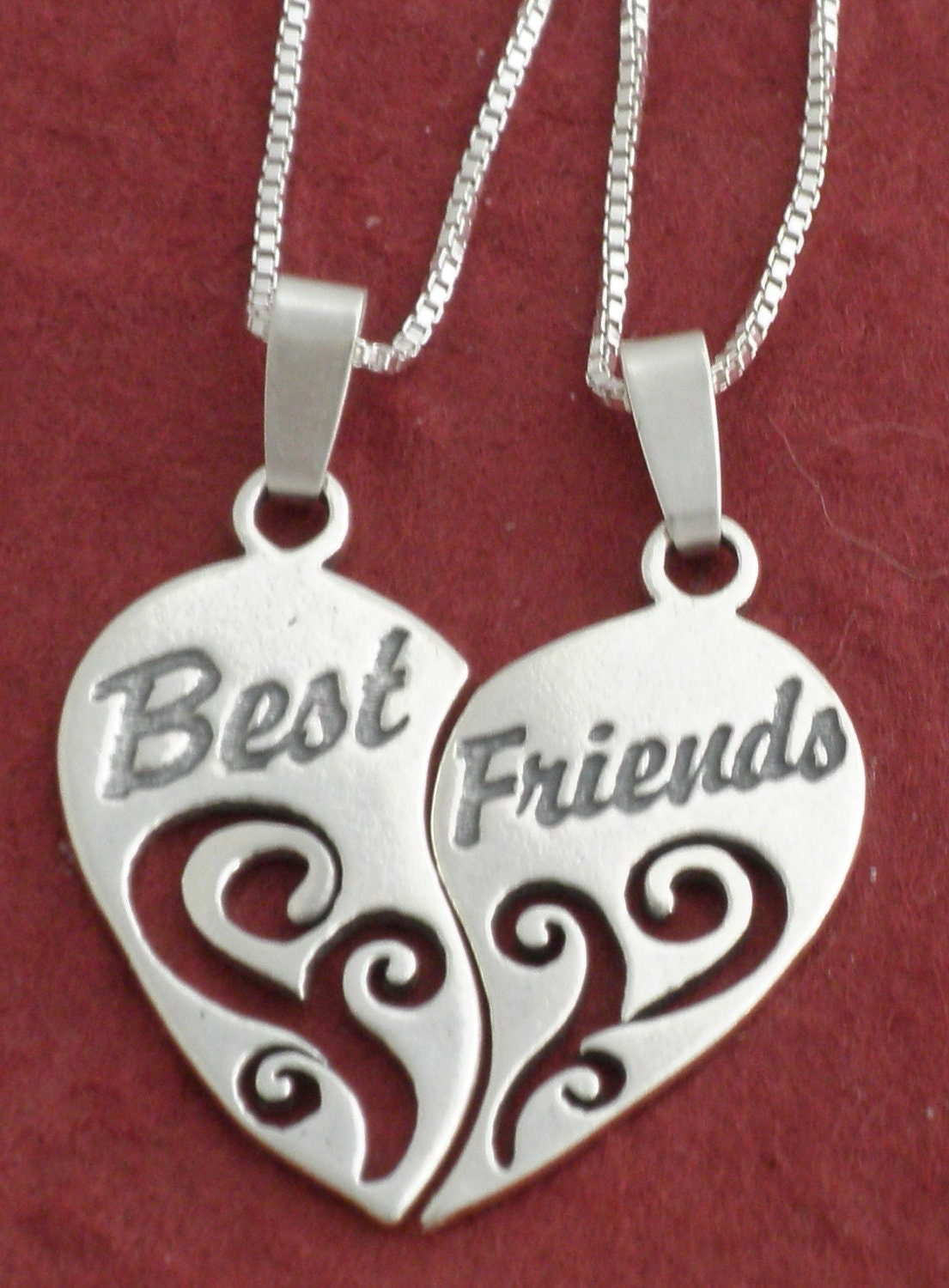 Best Friends For Frosting: Sterling Silver BEST FRIENDS Necklaces Incl 18 CHAINS