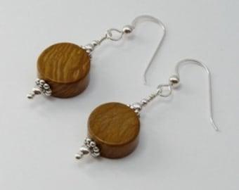 Wood Jasper Earrings