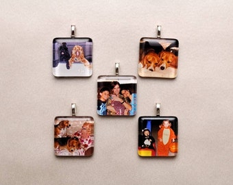 Custom Order For Tiffany Vass: Custom Photo Charms Finished  With Silver Plated Chain