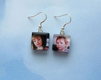 Custom Photo Charm Earrings
