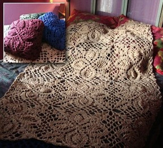 Crochet Quillow : Light Camel Afghillow Crochet Quillow by flamingdaisies on Etsy