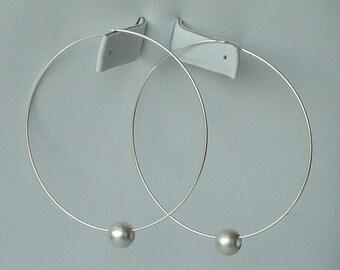 Orbit Sterling Silver Hoops Earrings