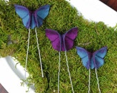 RESERVED for Silvia 5 Silk Origami Butterfly Hair Pins Soft White