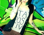 Organic SteamPunk Slouch Hooded Vest Top Buttons Shirt s-l -- Custom Item -- LAST CHANCE